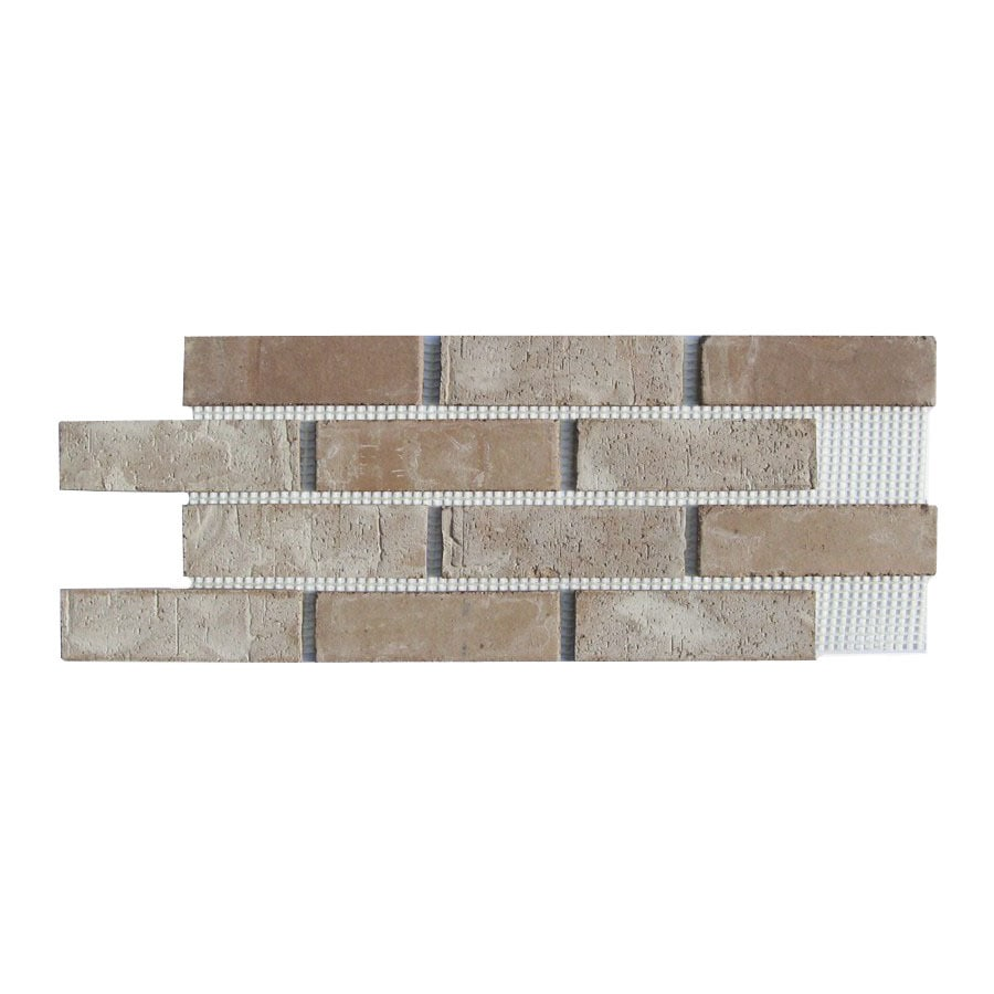 Old Mill Thin Brick Systems Brickweb 10.5-in x 28-in Little Cottonwood Panel Brick Veneer