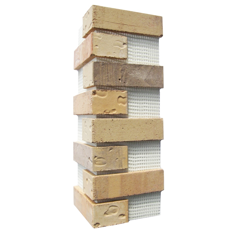 Old Mill Thin Brick Systems Brickweb 3-Pack 7.625-in x 21-in Pony Express Corner Sheet Brick Veneer Trim