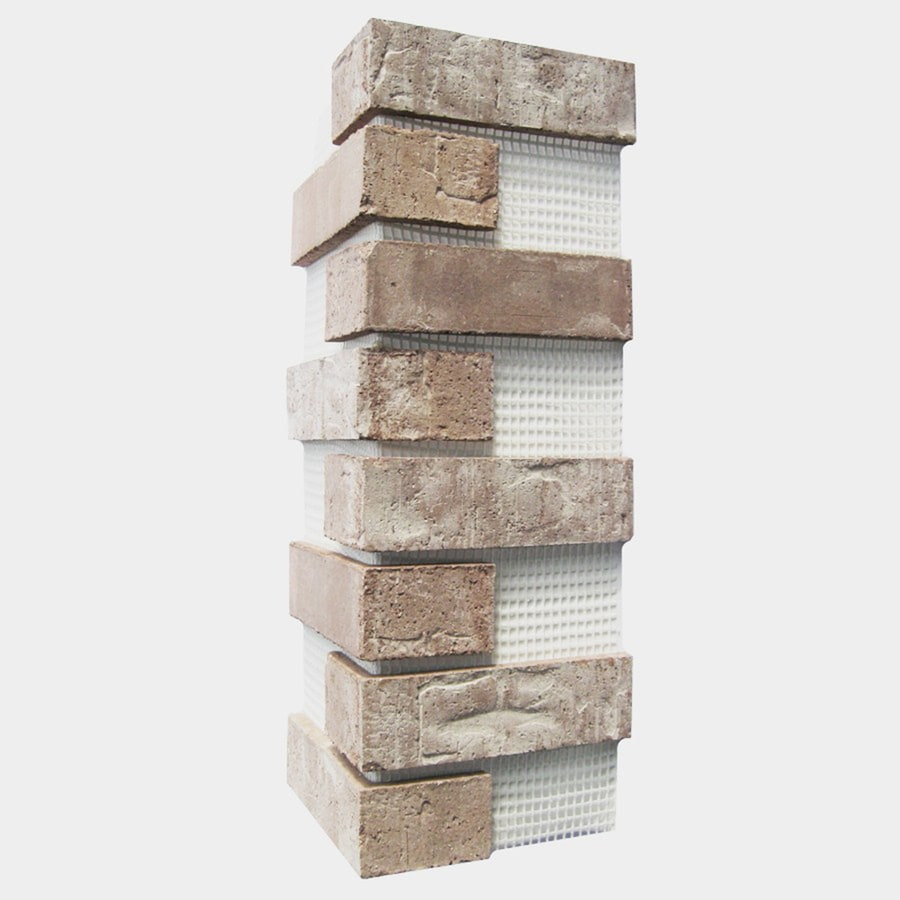 Old Mill Thin Brick Systems Brickweb 3-Pack 7.625-in x 21-in Little Cottonwood Corner Sheet Brick Veneer Trim