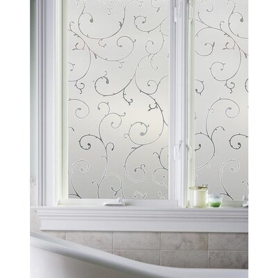 decorative film for bathroom windows artscape etched lace 36 in w x 6 ft l etched lace design pattern  artscape etched lace 36 in w x 6 ft l