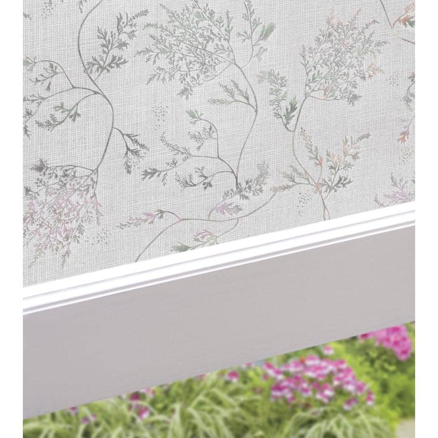 Artscape 24-in W x 36-in L Textured Silver Fern Privacy/Decorative Static Cling Window Film