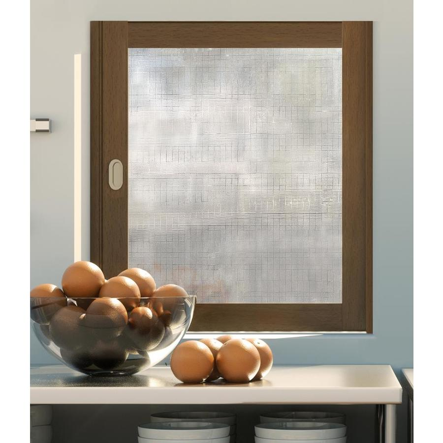 Artscape 24-in W x 36-in L Textured City Block Privacy/Decorative Static Cling Window Film