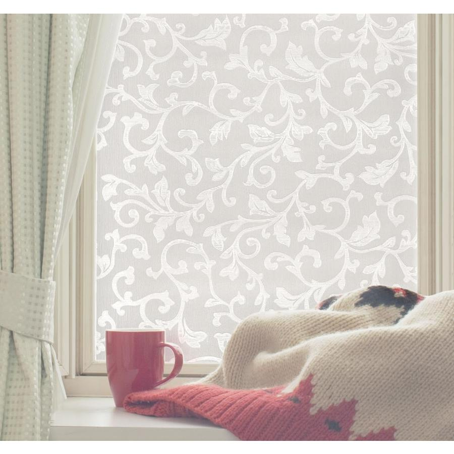 Shop artscape 24 in w x 36 in l textured tapestry privacy for Window film lowes
