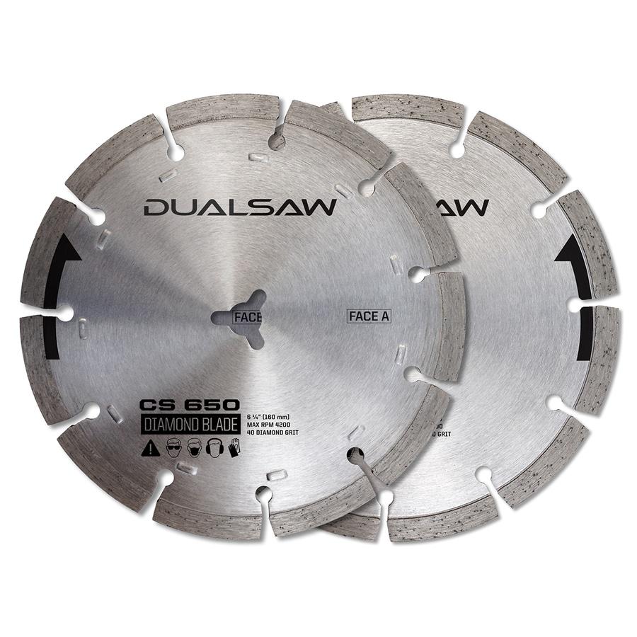 DualSaw Dual 2-Pack 6-1/4-in Masonry Diamond Circular Saw Blade Set