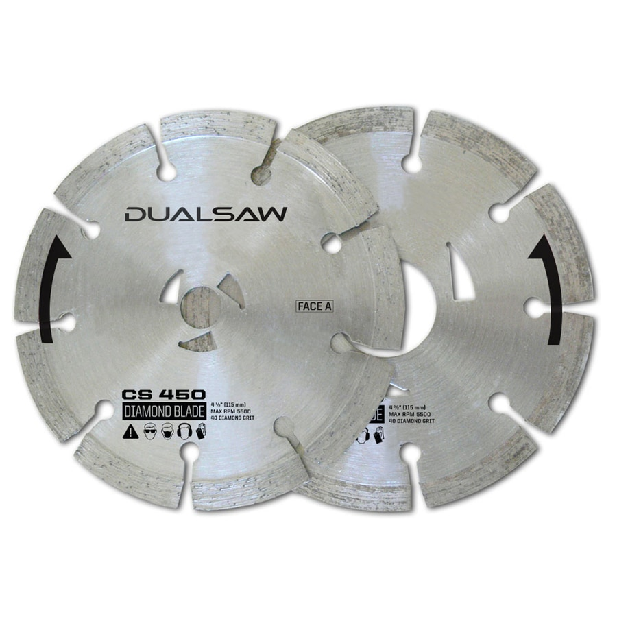 DualSaw Dual 2-Pack 4-1/2-in Masonry Diamond Circular Saw Blade Set