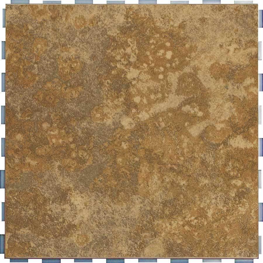 SnapStone 5-Pack 12-in x 12-in Interlocking Camel Glazed Porcelain Floor Tile