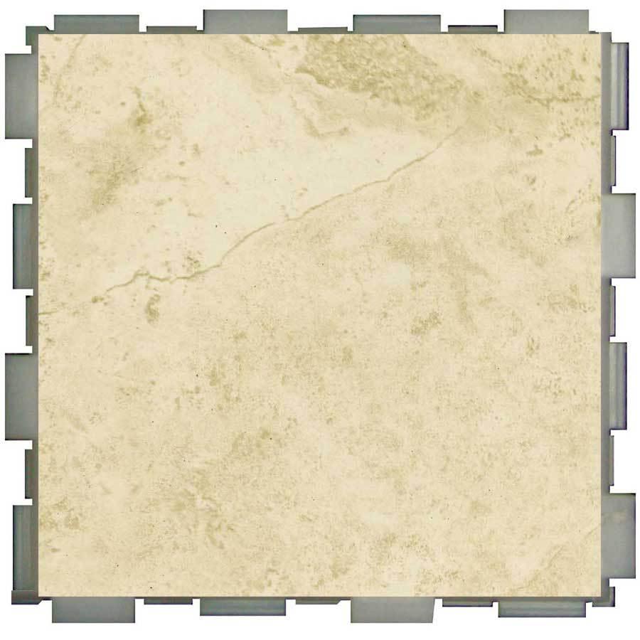 SnapStone 12-Pack 6-in x 6-in Interlocking Beige Glazed Porcelain Floor Tile
