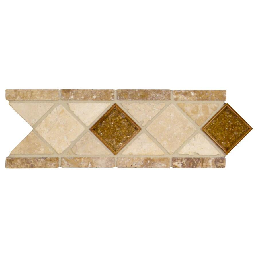 4-in x 12-in Noce Travertine Wall Tile