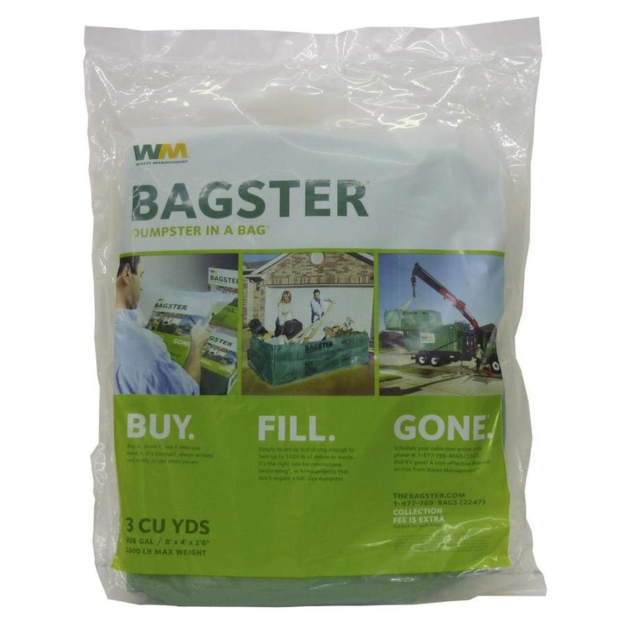 Waste Management Bagster 606-Gallon Green Plastic Outdoor Trash Can