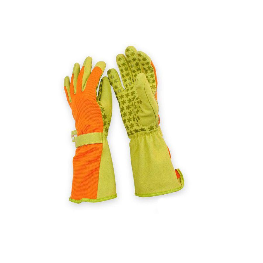 Dig It Handwear Women's Medium Orange/Green Polyester Garden Gloves