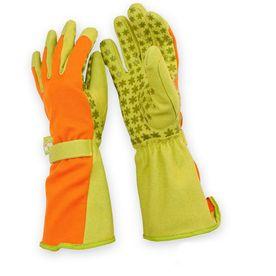 Dig It Handwear Womenu0027s Medium Orange/Green Polyester Garden Gloves