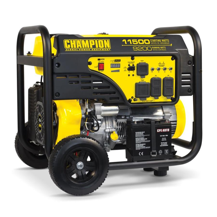 Champion Power Equipment 9200-Running-Watt Portable Generator with Engine