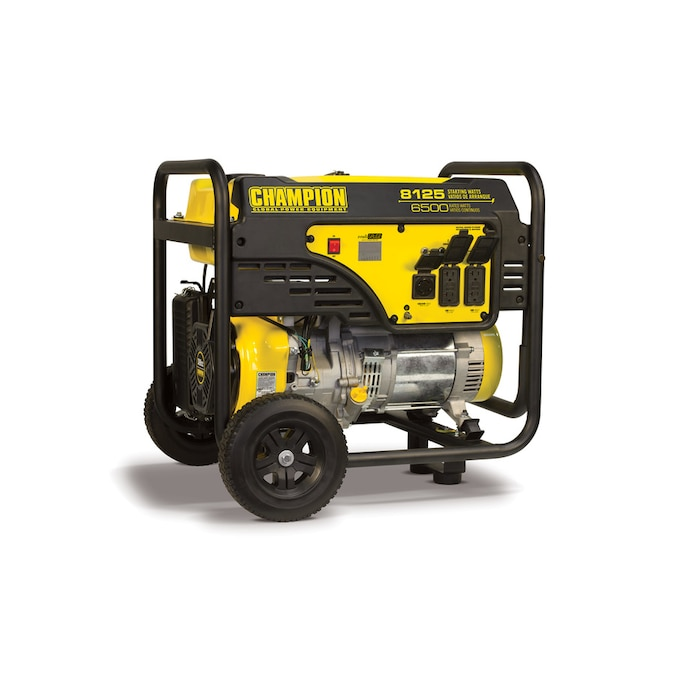 Champion Power Equipment 6500 Watt Gasoline Portable Generator With Champion Engine In The Portable Generators Department At Lowes Com