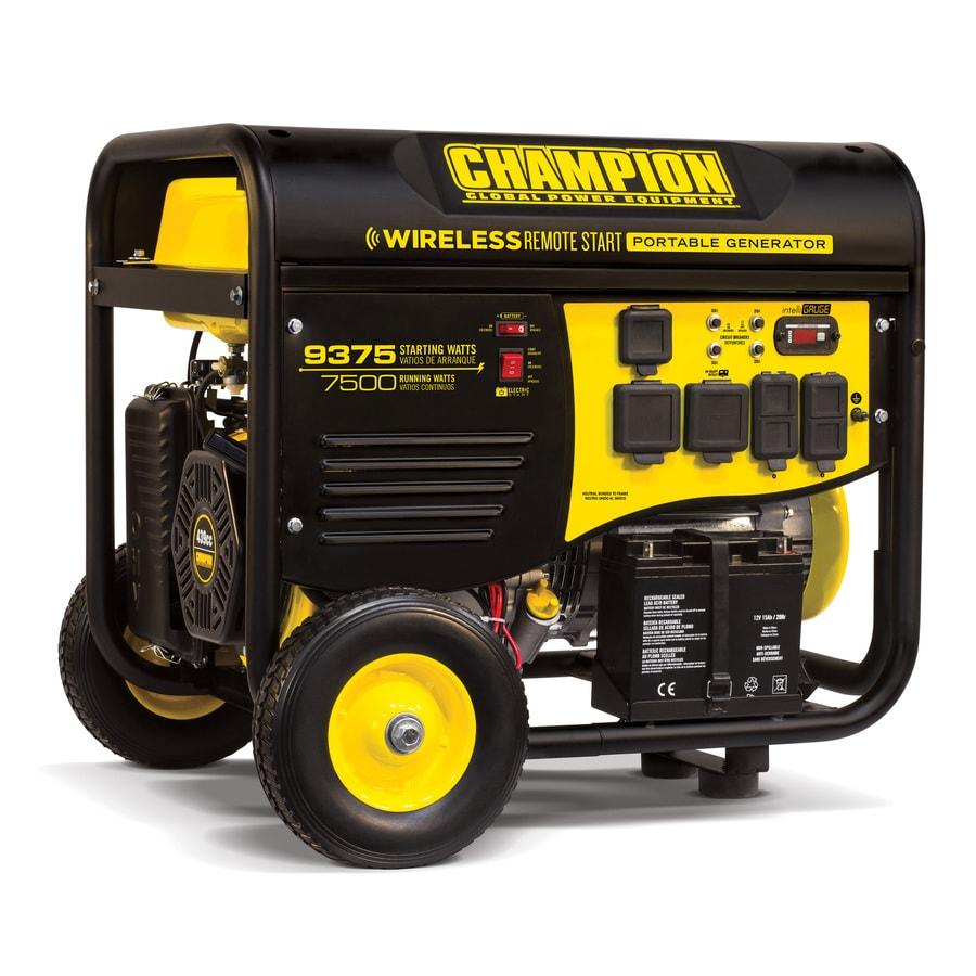 Champion Power Equipment 7500-Running-Watt Portable Generator with Engine