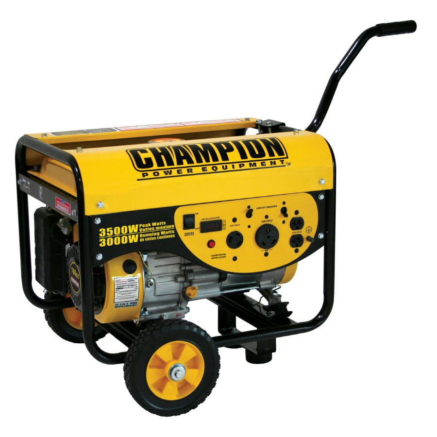 CHAMPION 3,000-Running-Watt Portable Generator with Champion Engine