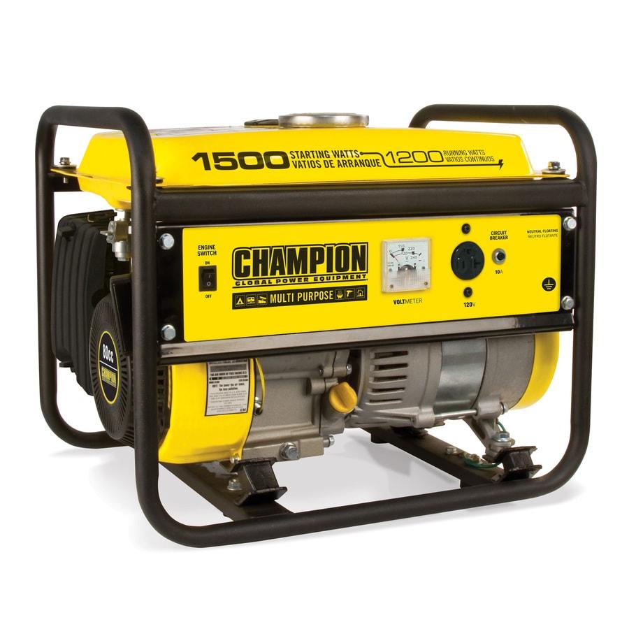 Champion Power Equipment 1200-Running-Watt Portable Generator with Champion Engine