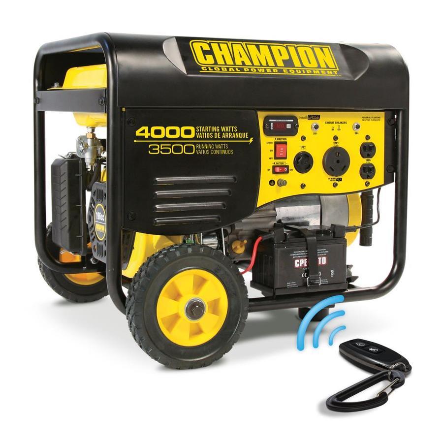 Champion Power Equipment 3500-Running-Watt Portable Generator with Engine