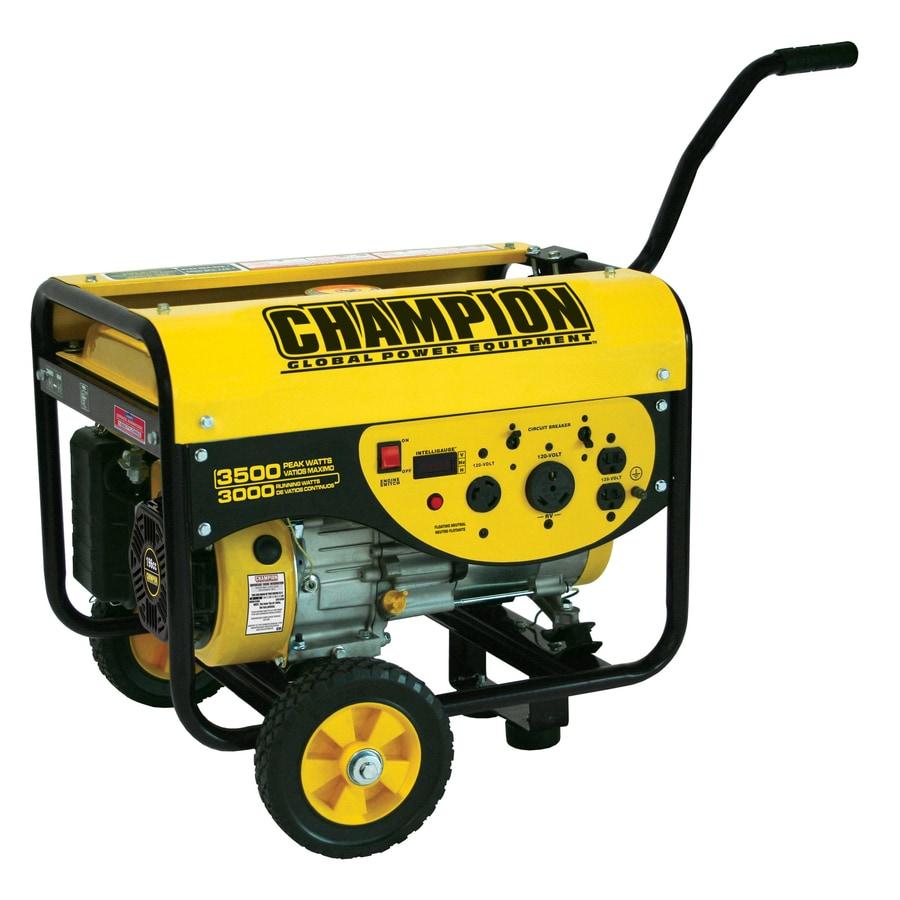 CHAMPION 3,000-Running-Watt Portable Generator with Champion Engine