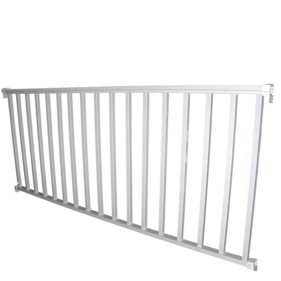 Superbe Wolf Handrail (Assembled: 8 Ft X 3 Ft) White Aluminum Deck