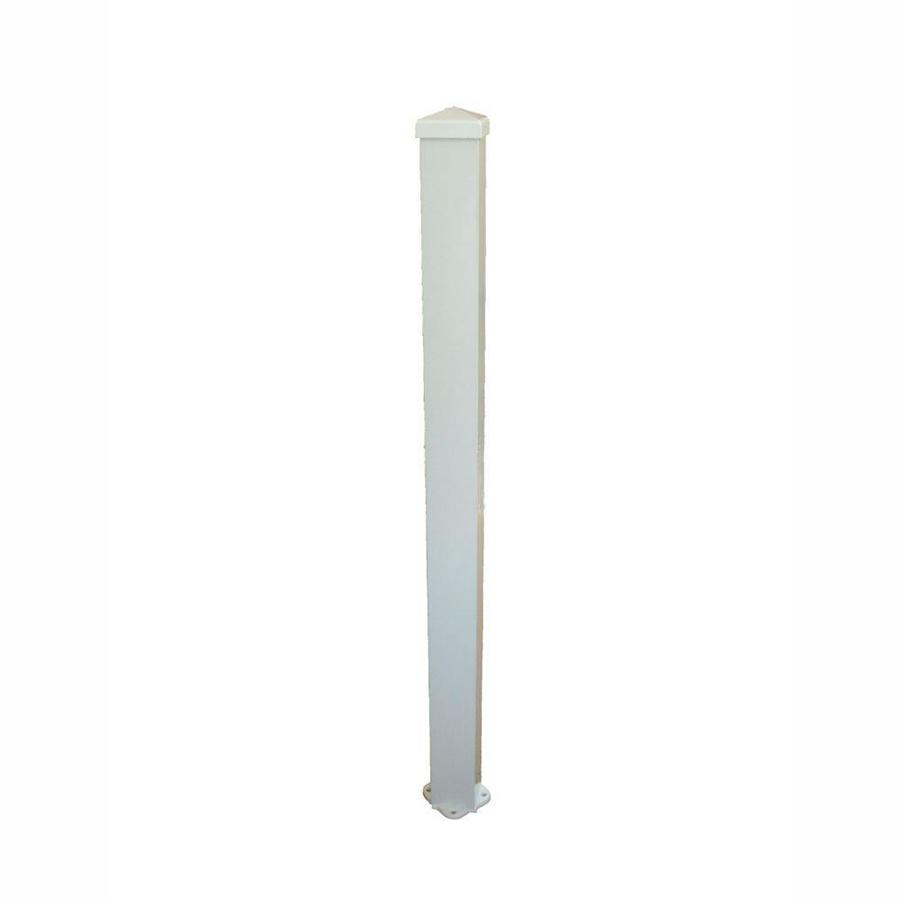 Wolf Handrail (Actual: 3-in x 3-in x 3.17-ft) Post Kit White Aluminum Deck Post