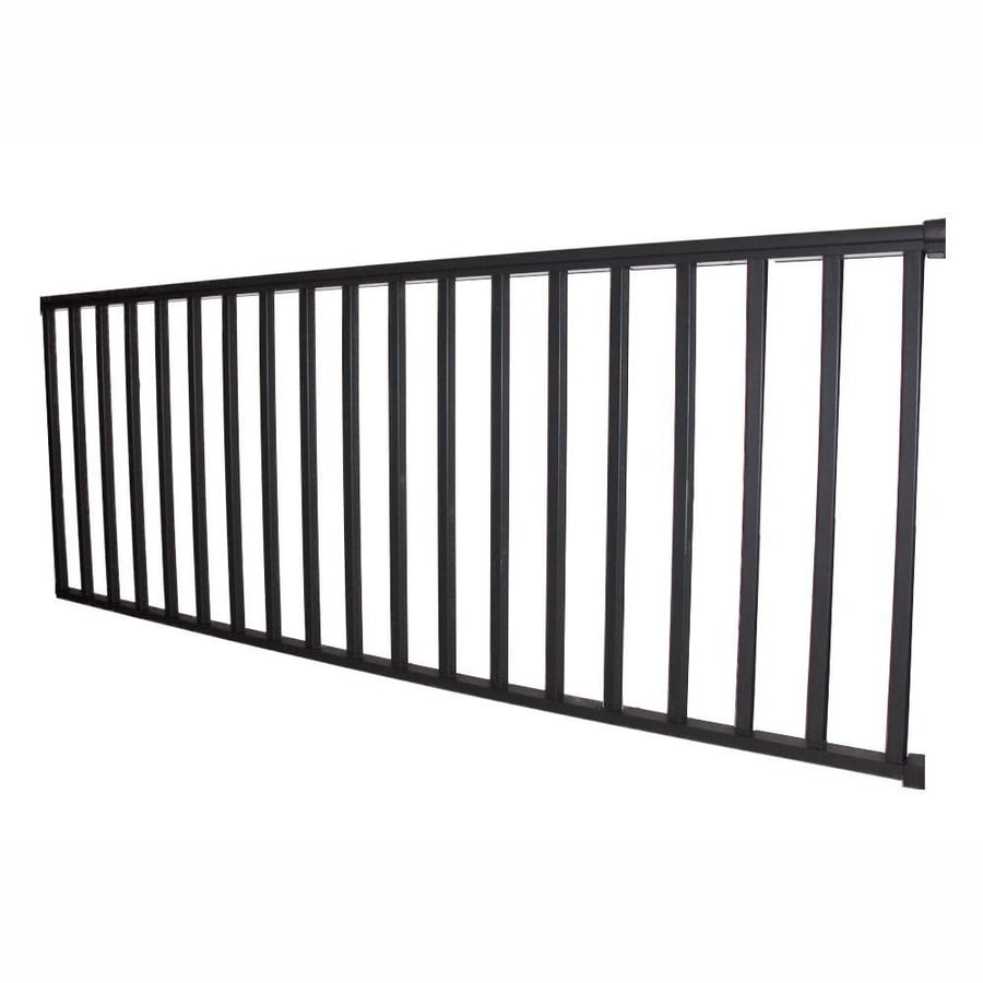 Shop wolf handrail assembled 6 ft x 3 5 ft deep bronze aluminum deck railing kit at - Vinyl deck railing lowes ...