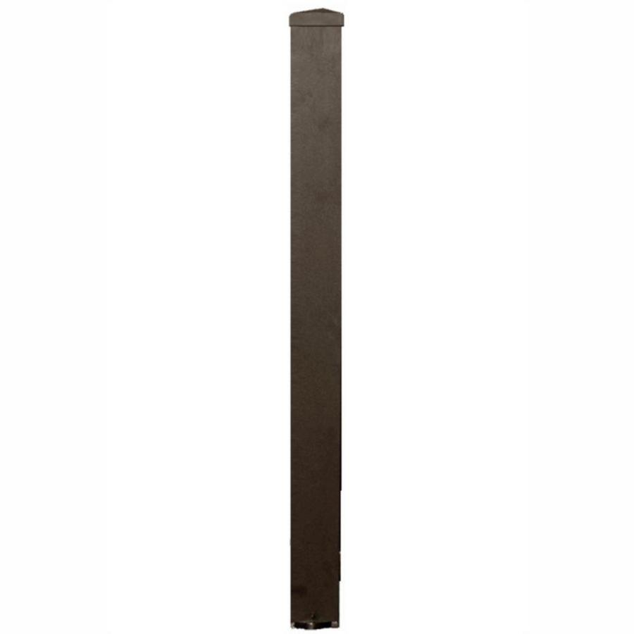 Wolf Handrail (Actual: 3-in x 3-in x 3.17-ft) Post Kit Deep Bronze Aluminum Deck Post