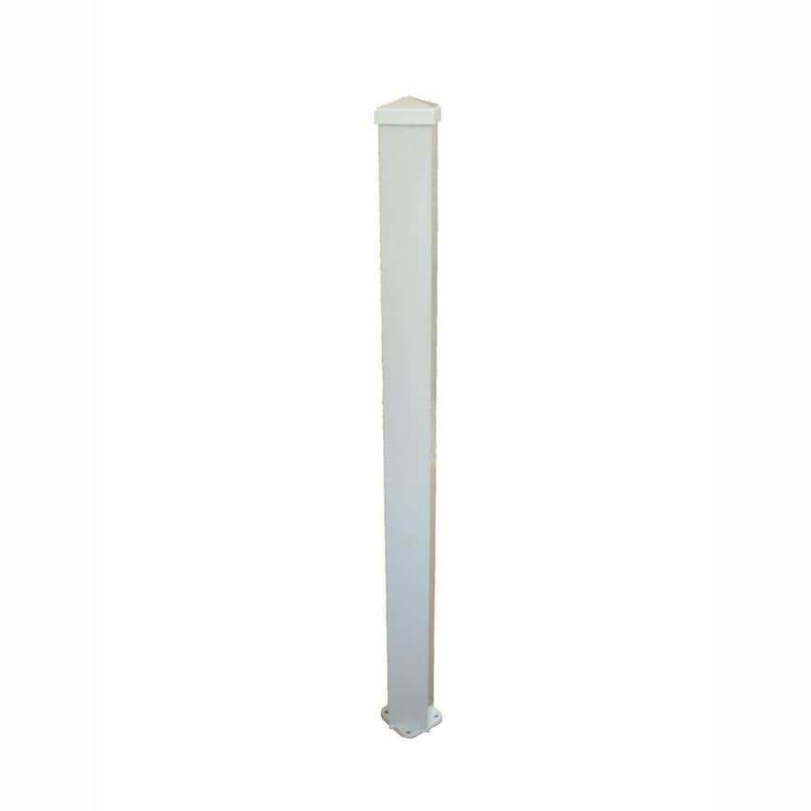 Wolf Handrail (Actual: 3-in x 3-in x 3.67-ft) Post Kit White Aluminum Deck Post