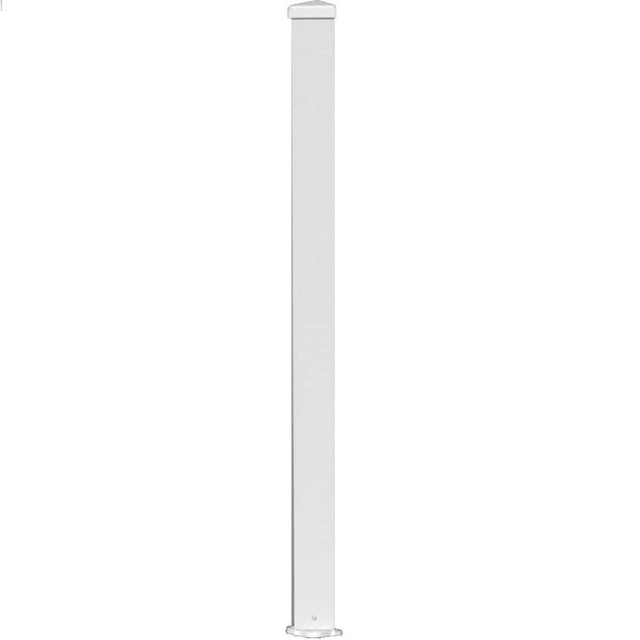 Wolf Handrail (Common: 6-ft; Actual: 3-in x 3-in x 6-ft) Post Kit White Aluminum Deck Post