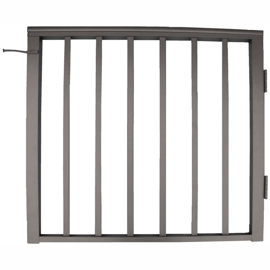 Wolf Handrail 34.75-in W x 32.5-in H Aluminum Porch Railing Gate