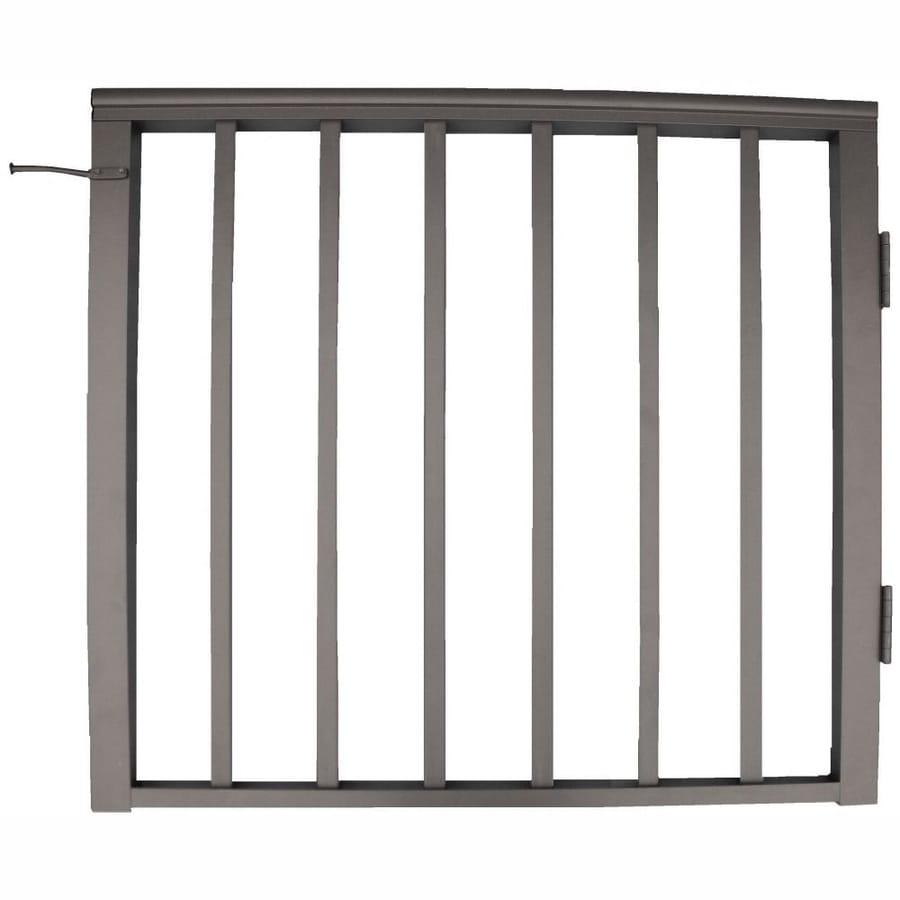 Wolf Handrail 34.75-in W x 38.5-in H Aluminum Porch Railing Gate