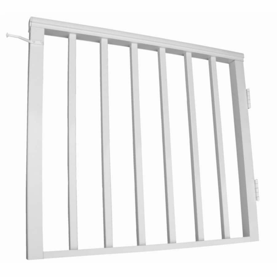 Wolf Handrail 34.75-in W x 32.5-in H Aluminum Porch Railing Gate