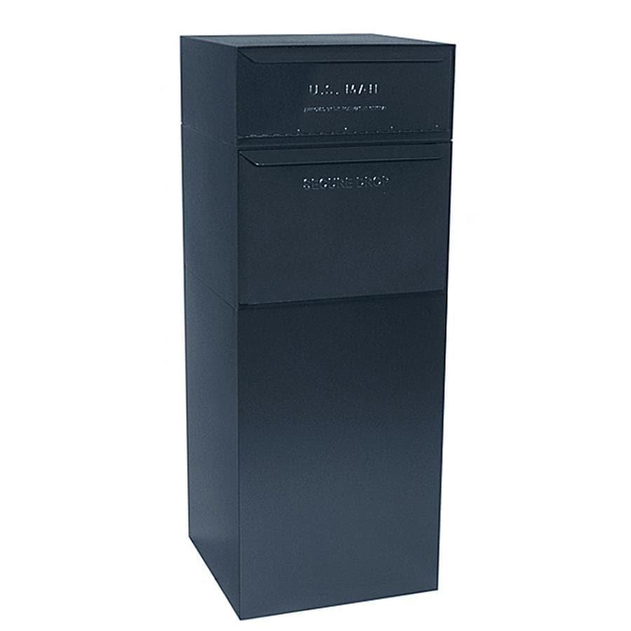 dVault 19-in x 47.75-in Metal Black Lockable Ground Mount Mailbox