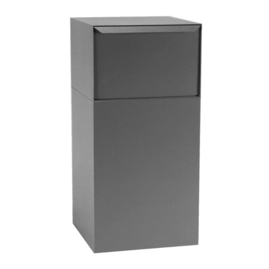 dVault 19-in x 40-in Metal Gray Lockable Ground Mount Mailbox
