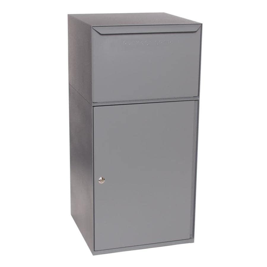 dVault 19-in x 40-in Metal Gray Lockable Ground Mount Mailbox