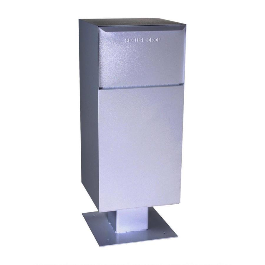 dVault 19-in x 52-in Metal Gray Lockable Post Mount Mailbox