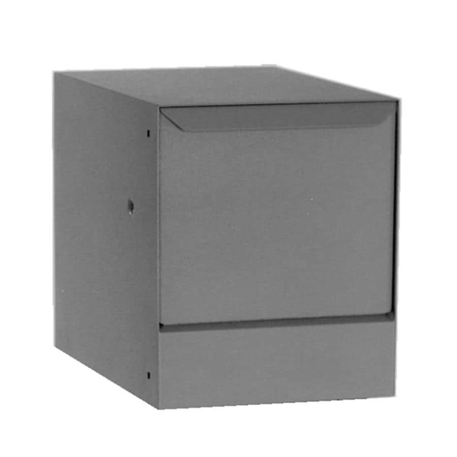 dVault 14.5-in W x 23.25-in H Metal Gray Lockable Wall Mount Mailbox