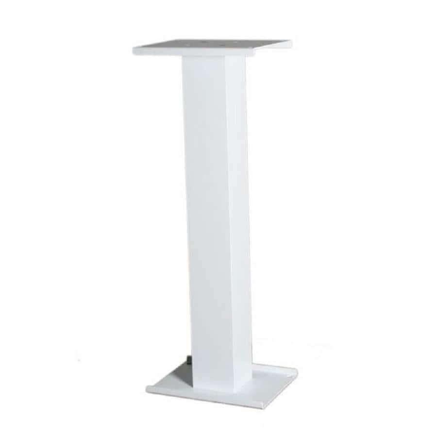 dVault White Aluminum Mailbox Post