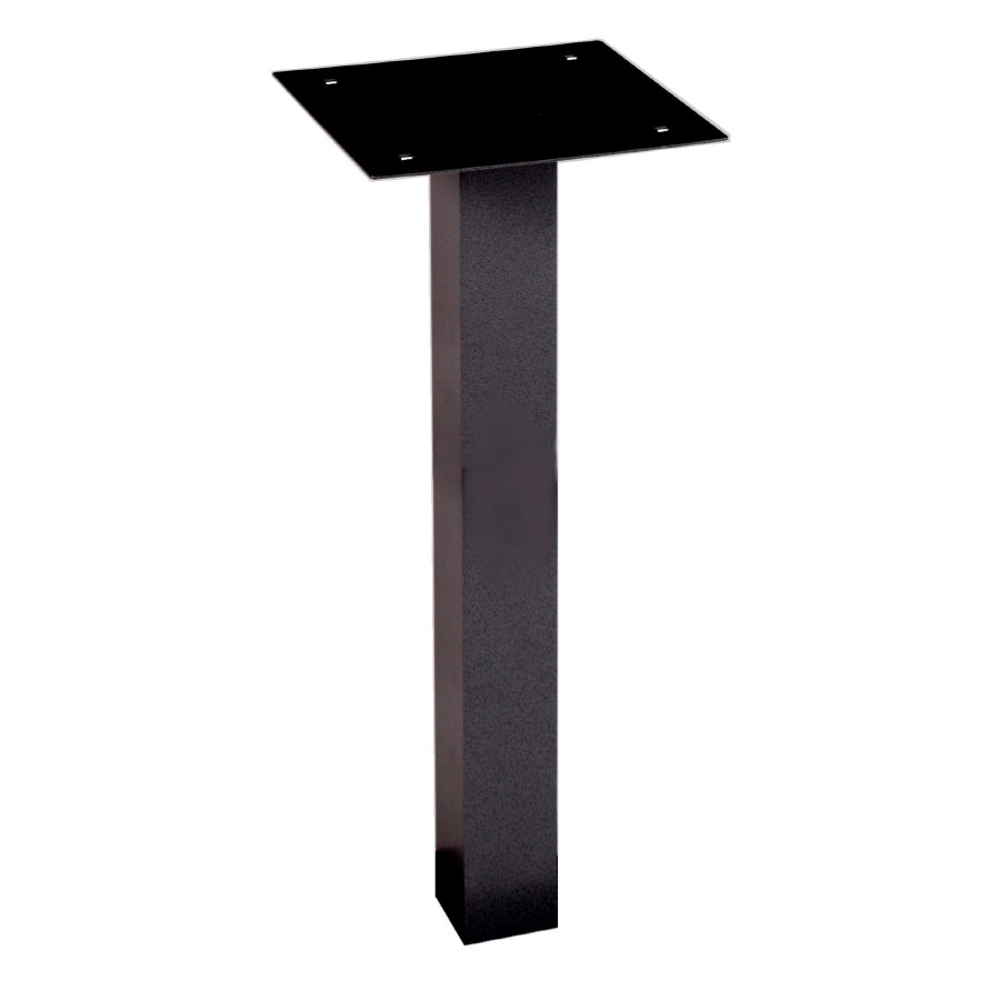 dVault Black Aluminum Mailbox Post