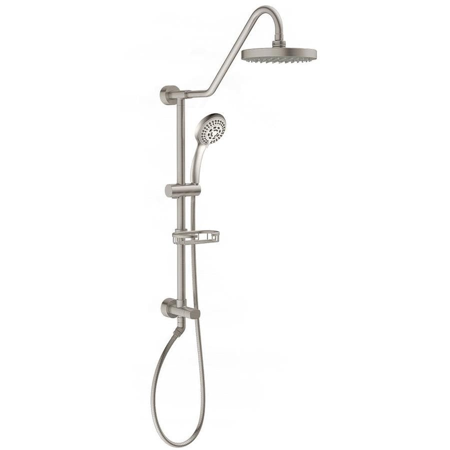 PULSE Retro Line Brushed Nickel 1 Spray Rain And Handheld Shower Combo