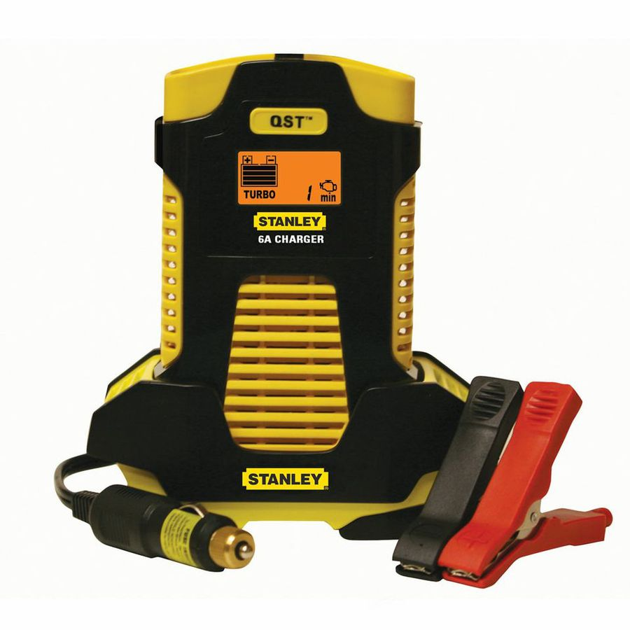 "Stanley 6-Amp Automatic Battery Charger with 8-Amp ""Quick Start Timer"""