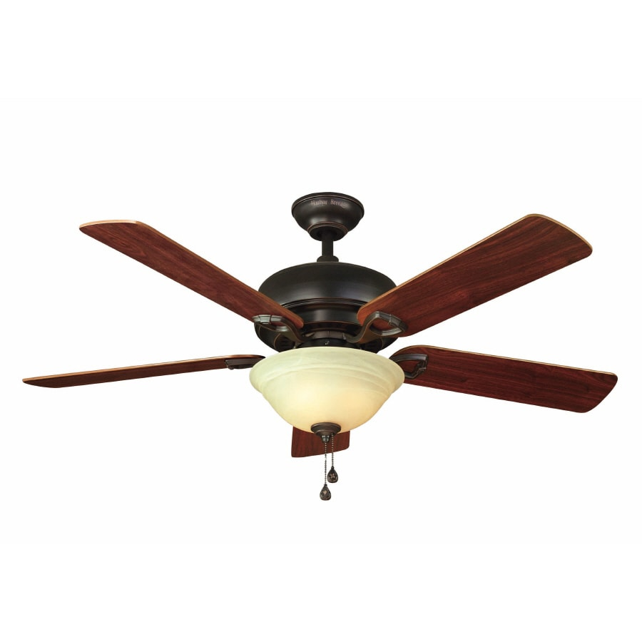 Shop Harbor Breeze 52 In Halston II Aged Bronze Ceiling Fan With Light Kit At