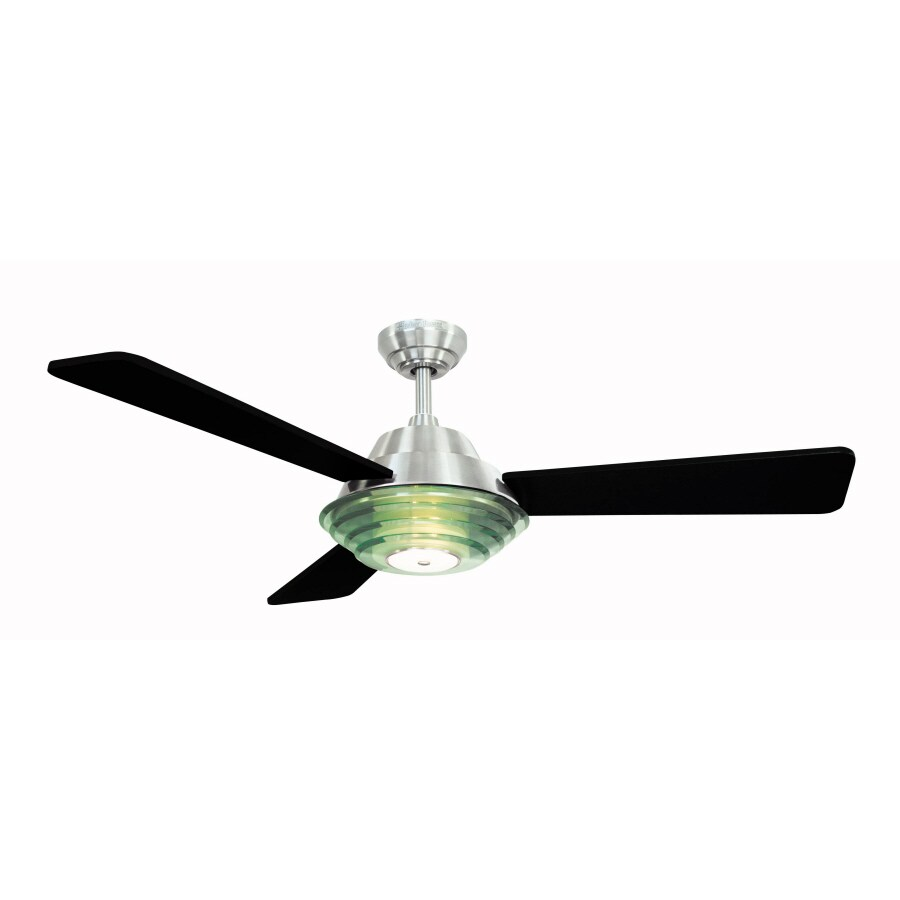 Harbor Breeze 52-in Signal Hill Brushed Nickel Ceiling Fan with Light Kit