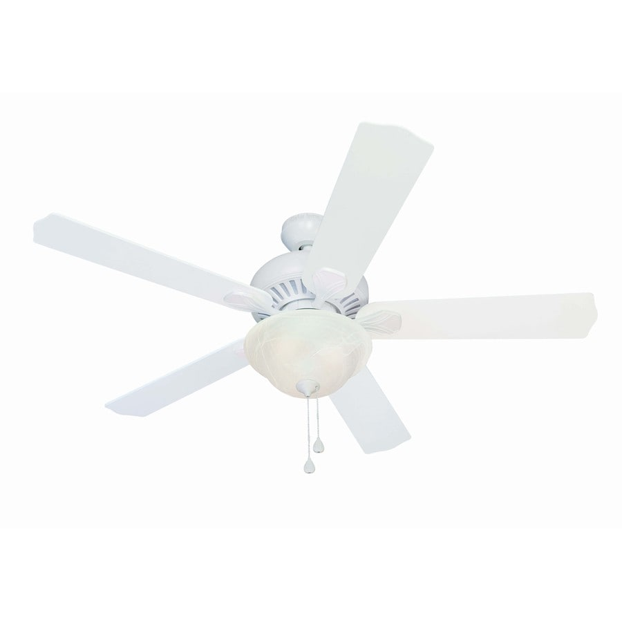 Harbor Breeze 52-in Crosswinds White Ceiling Fan with Light Kit