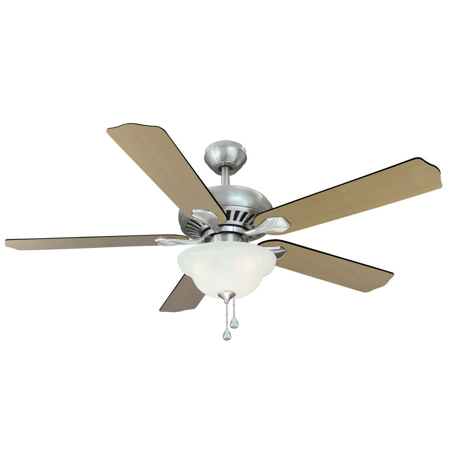 Shop harbor breeze 52 in crosswinds brushed nickel ceiling fan with harbor breeze 52 in crosswinds brushed nickel ceiling fan with light kit aloadofball Gallery