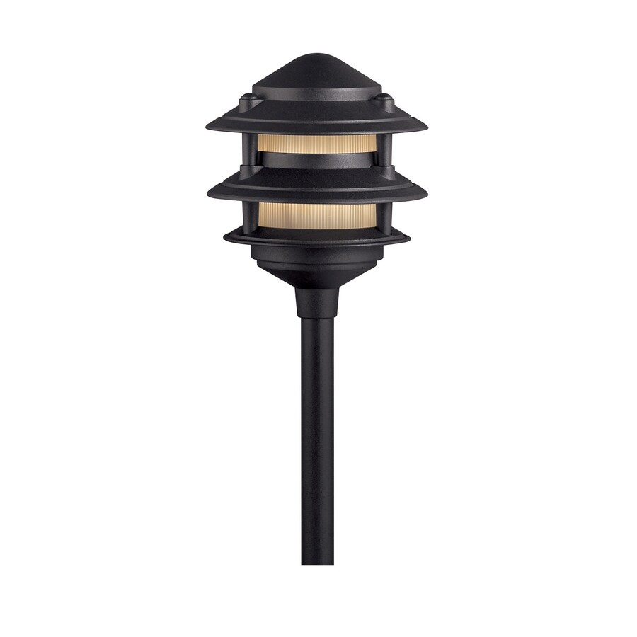 Portfolio 11-Watt Black Low Voltage Plug-In Incandescent Path Light