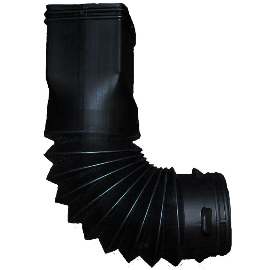 InvisaFlow 10.75-in Black Vinyl Downspout Diverter