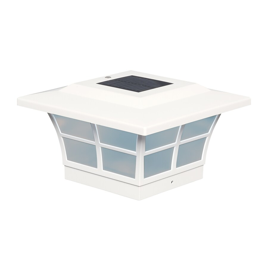 Classy Caps (Fits Common Post Measurement: 5-in x 5-in; Actual: 5-in x 8.75-in x 8.75-in) Prestige Solar LED PVC Deck Post Cap