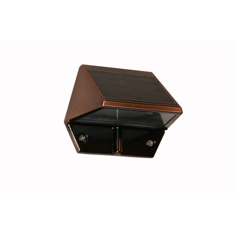 caps 3 in h led copper solar dark sky outdoor wall light at