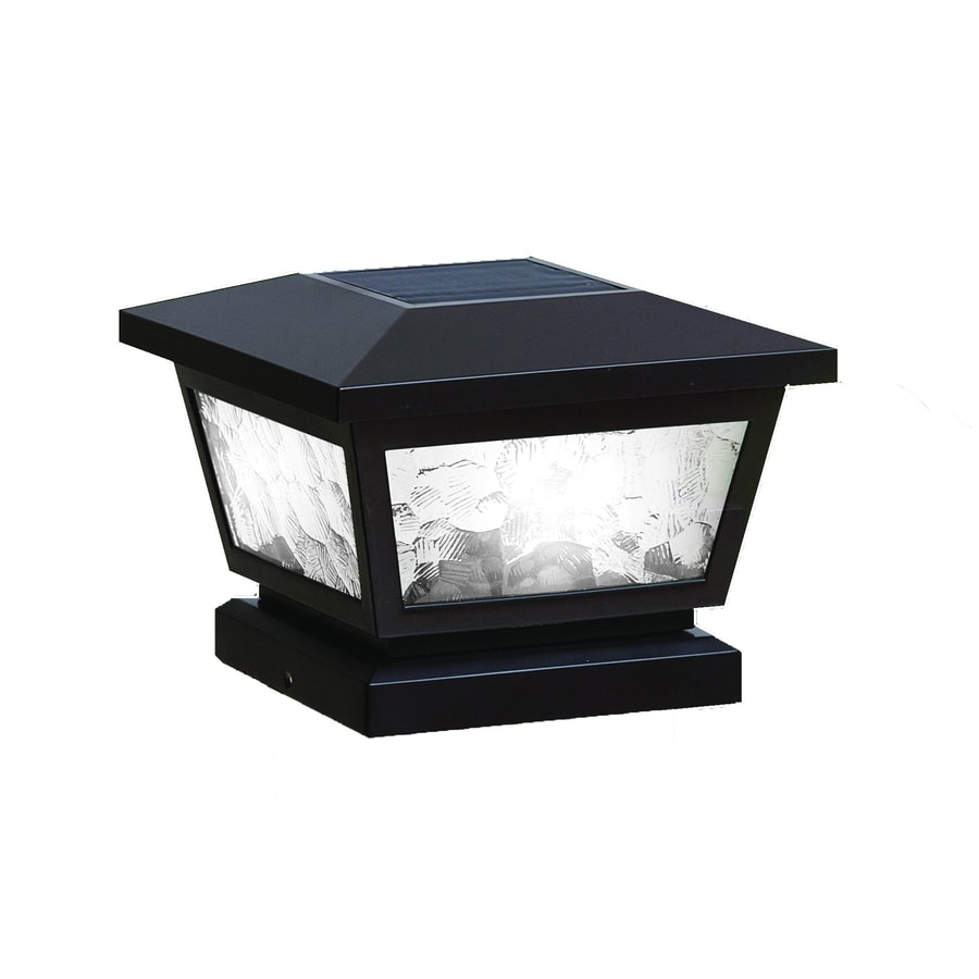 Classy Caps (Fits Common Post Measurement: 5-in x 5-in; Actual: 5-in x 7-in x 7-in) Fairmont Black Solar LED Plastic Deck Post Cap
