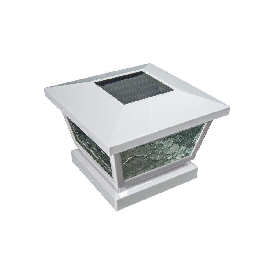 Classy Caps (Fits Common Post Measurement: 5-in x 5-in; Actual: 5-in x 7-in x 7-in) Fairmont Solar LED Plastic Deck Post Cap